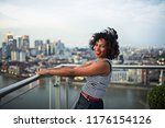a portrait of businesswoman... | Shutterstock . vector #1176154126