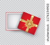 an open gift box with a gold... | Shutterstock .eps vector #1176154903