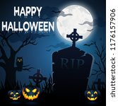 halloween illustration  ... | Shutterstock . vector #1176157906