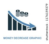 money decrease graphic icon....