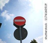 access denied  divieto di... | Shutterstock . vector #1176160519