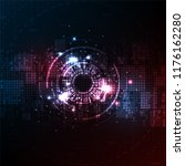 vector background technology in ... | Shutterstock .eps vector #1176162280