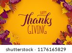 thanksgiving holiday banner... | Shutterstock .eps vector #1176165829
