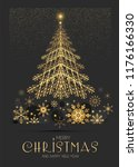 elegant christmas card template ... | Shutterstock .eps vector #1176166330