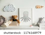 stylish scandinavian newborn... | Shutterstock . vector #1176168979