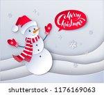 vector cut paper art style... | Shutterstock .eps vector #1176169063