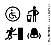 public spaces signals fill icon ... | Shutterstock .eps vector #1176169879