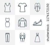 fashion icons line style set... | Shutterstock .eps vector #1176172150