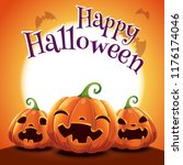 halloween poster with realistic ... | Shutterstock .eps vector #1176174046