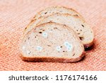 mildew on a slice of bread.... | Shutterstock . vector #1176174166
