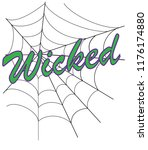 wicked halloween web | Shutterstock .eps vector #1176174880