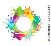 framework with multicolored... | Shutterstock .eps vector #117617869