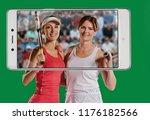 successful sportswomen with...   Shutterstock . vector #1176182566