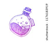 poison bottle colorful sketch.... | Shutterstock .eps vector #1176183919