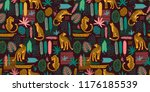 vestor seamless pattern with... | Shutterstock .eps vector #1176185539