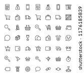 e commerce flat icon set .... | Shutterstock .eps vector #1176185839