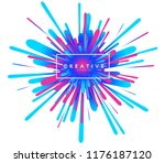 abstract explosion colorful... | Shutterstock .eps vector #1176187120