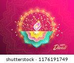happy diwali. paper graphic of... | Shutterstock .eps vector #1176191749