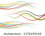 set of abstract color  curved... | Shutterstock . vector #1176194143