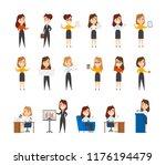 big set of business characters. ... | Shutterstock .eps vector #1176194479