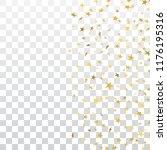 gold stars falling confetti... | Shutterstock .eps vector #1176195316