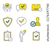 approve color icons set.... | Shutterstock .eps vector #1176197740