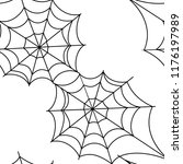 cobweb  isolated on white... | Shutterstock .eps vector #1176197989