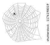 cobweb  isolated on white... | Shutterstock .eps vector #1176198019
