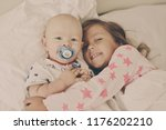 baby brother and sister in the... | Shutterstock . vector #1176202210