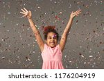 happy african american little... | Shutterstock . vector #1176204919