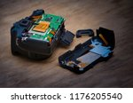 disassembly and repair of... | Shutterstock . vector #1176205540