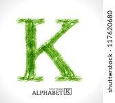 grunge vector letter. green eco ... | Shutterstock .eps vector #117620680