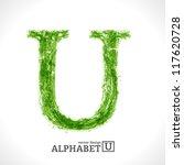 grunge vector letter. green eco ... | Shutterstock .eps vector #117620728