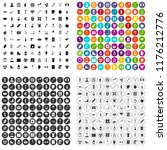 100 health condition icons set... | Shutterstock . vector #1176212776