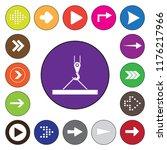 pictograph crane hook  lifting...   Shutterstock .eps vector #1176217966