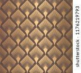 art deco pattern. seamless... | Shutterstock .eps vector #1176219793