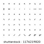 line arrow icons set. city ... | Shutterstock .eps vector #1176219820