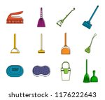 cleaning tool icon set. color... | Shutterstock . vector #1176222643