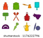 name icon set. color outline...   Shutterstock . vector #1176222796