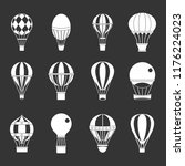 air ballon icon set white... | Shutterstock . vector #1176224023