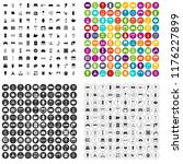 100 furnishing icons set in 4... | Shutterstock . vector #1176227899