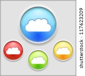 abstract icon of a cloud ...