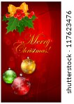 christmas background with balls ...   Shutterstock .eps vector #117623476