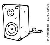 line drawing cartoon speaker box | Shutterstock .eps vector #1176243406