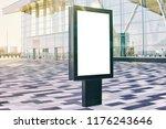 blank advertising billboard in...   Shutterstock . vector #1176243646