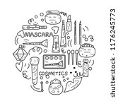 black and white doodle...   Shutterstock .eps vector #1176245773