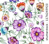 beautiful colorful cosmos... | Shutterstock . vector #1176245923