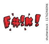 cartoon doodle swear word   Shutterstock .eps vector #1176246046
