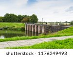 Small photo of Benedensas Sluice and bridge in nature park Dintelse Gorzen, The Netherlands