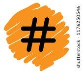 hashtag sign icon vector...   Shutterstock .eps vector #1176250546